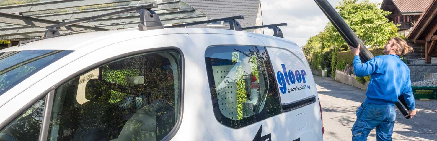 Gloor Gebäudetechnik – Dienstleistungen Service-Fahrzeug